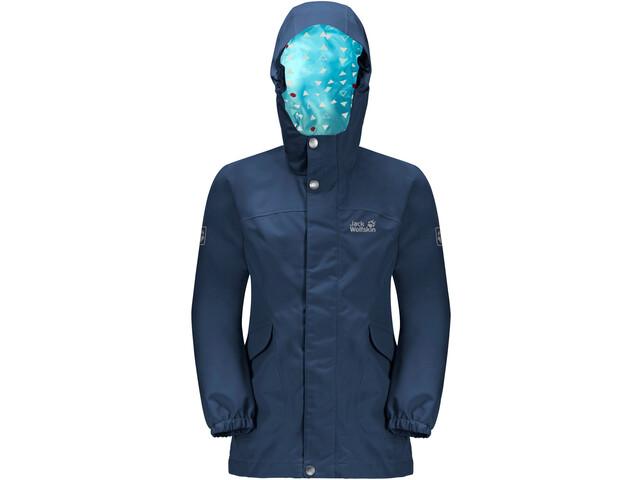 Jack Wolfskin Rock Town Jacket Girls, blauw